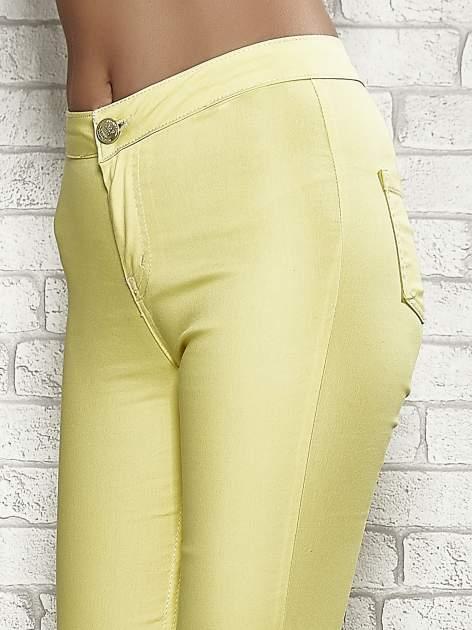 Żółte spodnie rurki skinny                                  zdj.                                  5