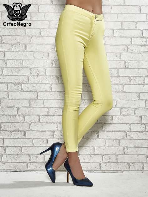 Żółte spodnie rurki skinny                                  zdj.                                  1