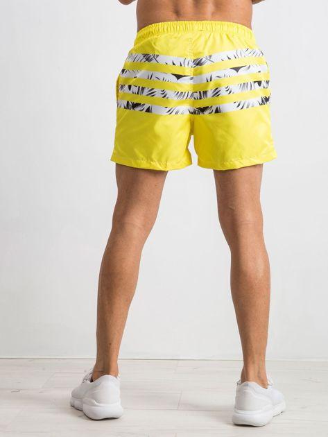Żółte szorty męskie Travis                              zdj.                              2