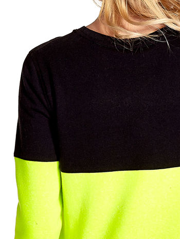 Żółto-czarna bluza z napisem I'M SO ADVERSE                                  zdj.                                  6