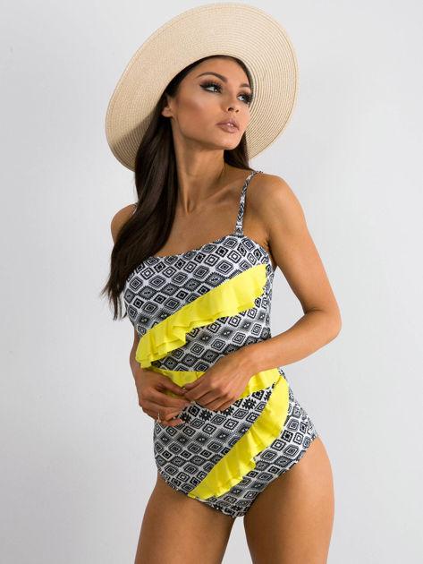 Żółto-czarny strój kąpielowy Weather