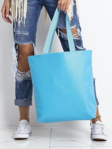 Żółto-niebieska torba z flamingiem                              zdj.                              2