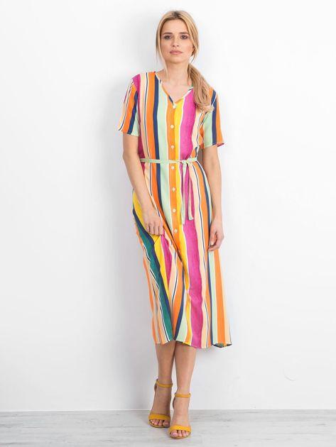Żółto-różowa sukienka Mishaps                              zdj.                              3