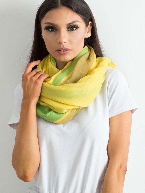 Żółto-zielona chusta damska