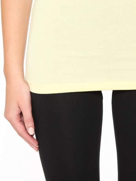 Żółty gładki top na szerokich ramiączkach                                  zdj.                                  7