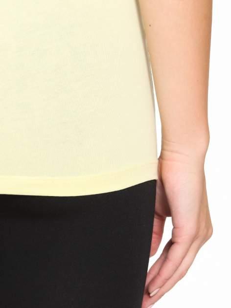 Żółty gładki top na szerokich ramiączkach                                  zdj.                                  9
