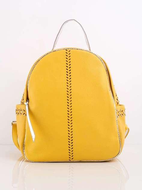 Żółty plecak ze skóry ekologicznej