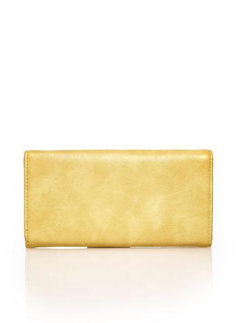 Żółty portfel z ozdobną aplikacją                                  zdj.                                  2