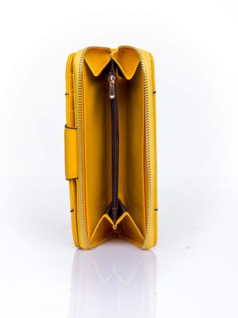 Żółty portfel ze złoconą klamrą                                  zdj.                                  4