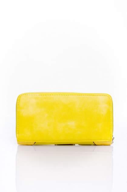 Żółty portfel ze złotą klamerką                                  zdj.                                  2