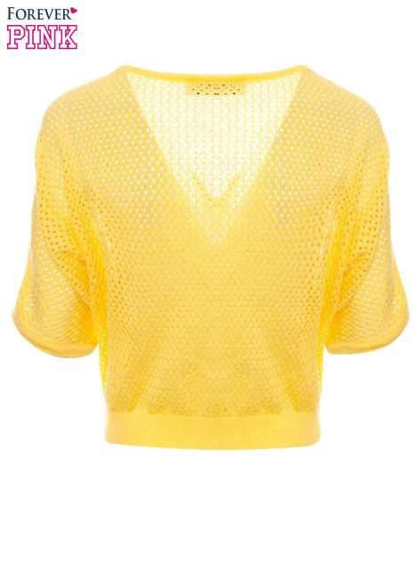 Żółty siateczkowy sweter oversize                                  zdj.                                  7