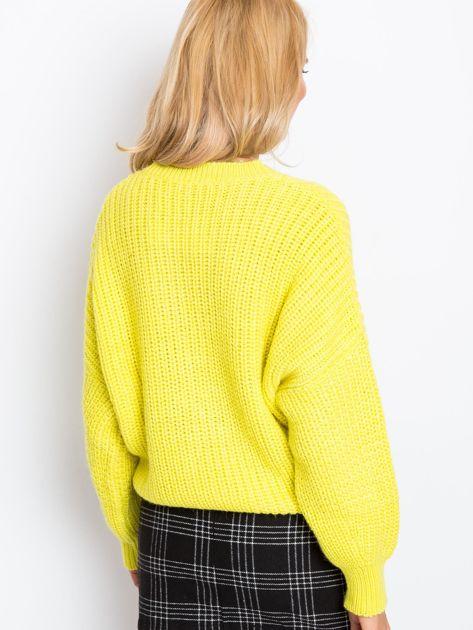 Żółty sweter Zoe                              zdj.                              2