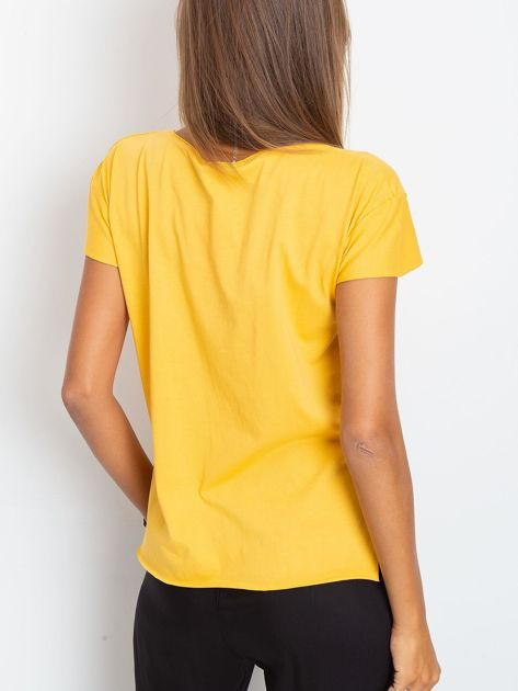 Żółty t-shirt Shelly                              zdj.                              2