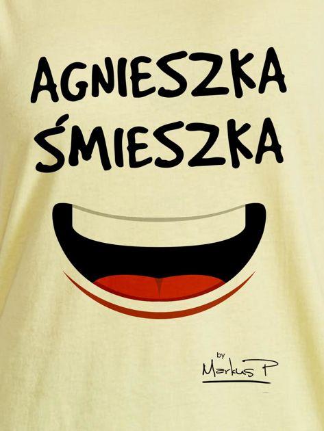 Żółty t-shirt damski AGNIESZKA ŚMIESZKA by Markus P                                  zdj.                                  2