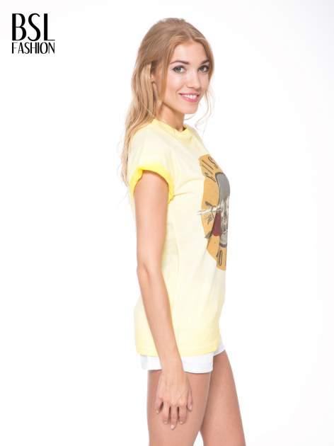 Żółty t-shirt z nadrukiem GUNS N' ROSES                                  zdj.                                  3