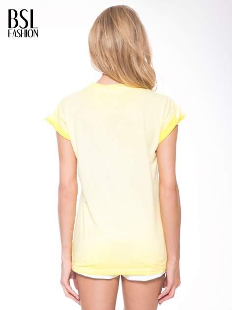 Żółty t-shirt z nadrukiem GUNS N' ROSES                                  zdj.                                  4