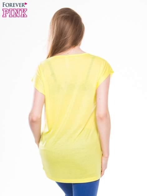 Żółty t-shirt z nadrukiem Marilyn Monroe z gumą balonową                                  zdj.                                  3