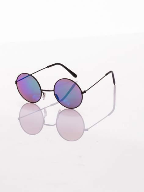 czarne okulary lustrzanki przeciwsłoneczne LENONKI PONADCZASOWE                                  zdj.                                  2