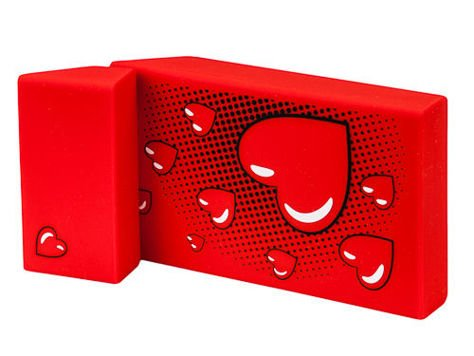 toys4smokers SLIM/Etui silikonowe na papierosy -Red heart                              zdj.                              2