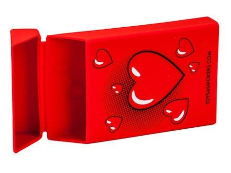 toys4smokers SLIM/Etui silikonowe na papierosy -Red heart                                  zdj.                                  4