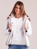 4F Biało-beżowa kurtka zimowa narciarska                                  zdj.                                  9