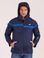 4F Granatowa męska kurtka narciarska                                  zdj.                                  5