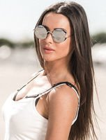 ASPEZO Okulary przeciwsłoneczne damskie POLARYZACYJNE srebrne ST TROPEZ Etui skórzane, etui miękkie oraz ściereczka z mikrofibry w zestawie                                  zdj.                                  1