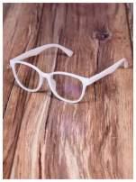 BIAŁE! Modne okulary zerówki klasyczne - soczewki ANTYREFLEKS,system FLEX na zausznikach