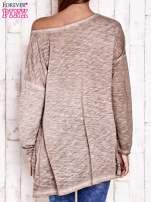 Beżowa dekatyzowana bluzka oversize z łapaczem snów                                  zdj.                                  4