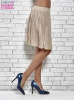 Beżowa plisowana spódnica do kolan                                  zdj.                                  4