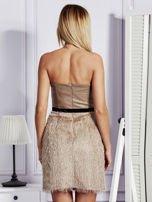Beżowa sukienka z frędzelkami                                   zdj.                                  2