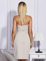 Beżowa sukienka z suwakiem                                  zdj.                                  2
