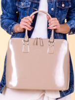 Beżowa torba damska z odpinanym paskiem                                  zdj.                                  3