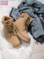 Beżowe buty trekkingowe damskie Amina traperki ocieplane                                  zdj.                                  1