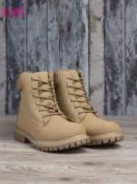 Beżowe buty trekkingowe damskie Amina traperki ocieplane                                  zdj.                                  3