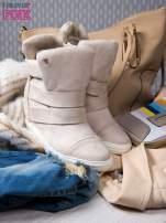 Beżowe zamszowe sneakersy bandage Quinn                                  zdj.                                  2