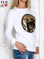 Grafitowa bluza z dwustronną naszywką z cekinów