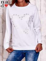 Biała bluza z wzorem serca                                  zdj.                                  1