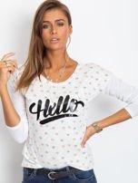 Biała bluzka Hello                                  zdj.                                  1
