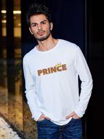 Biała bluzka męska PRINCE z nadrukiem dla par                                  zdj.                                  1