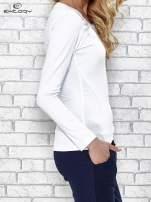 Biała bluzka sportowa z dekoltem U                                  zdj.                                  3