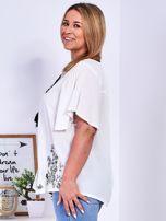 Biała bluzka w etniczne hafty PLUS SIZE                                  zdj.                                  3
