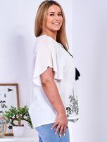 Biała bluzka w etniczne hafty PLUS SIZE                                  zdj.                                  5