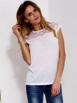 Biała bluzka z koronkową górą                                  zdj.                                  1
