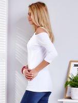 Biała bluzka z wycięciami                                   zdj.                                  5