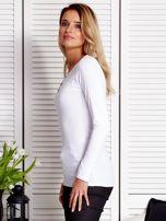 Biała bluzka ze sznurowaną wstawką                                  zdj.                                  3