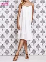 Biała grecka sukienka ze złotym paskiem                                  zdj.                                  6