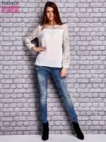 Biała koszula mgiełka z koronkowymi rękawami                                   zdj.                                  4