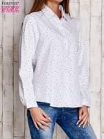 Biała koszula w drobne gwiazdki                                  zdj.                                  3