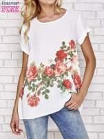 Biała koszula z motywem kwiatów                                  zdj.                                  1